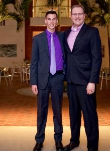 Senior Zac Mikluask and Director of Digital Sports Production Alex Kartman.