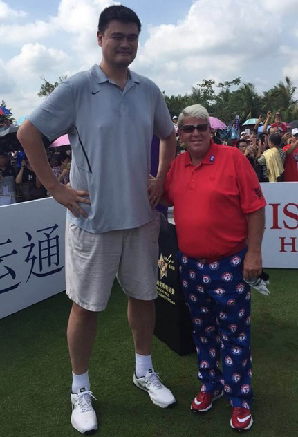 Yao Ming Shows Off His Golf Swing Pgacom